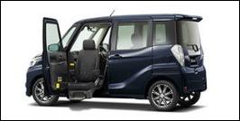 MITSUBISHI EK SPACE FRONT SEAT ACCESSIBLE VEHICLE: LIFTUP TYPE