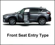 MAZDA FRONT SEAT ACCESSIBLE CAR FOR HANDICAP PERSON
