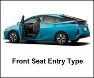 TOYOTA FRONT SEAT ACCESSIBLE CAR FOR HANDICAP PERSON