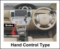TOYOTA HAND CONTROL TYPE VEHICLE FOR HANDICAP PERSON