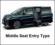 TOYOTA MIDDLE SEAT ACCESSIBLE VEHICLE FOR HANDICAP PERSON
