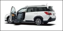 SUBARU EXIGA CROSSOVER-7 FRONT SEAT ACCESSIBLE VEHICLE: LIFTUP TYPE