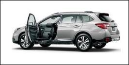SUBARU LEGACY OUTBACK FRONT SEAT ACCESSIBLE VEHICLE: LIFTUP TYPE